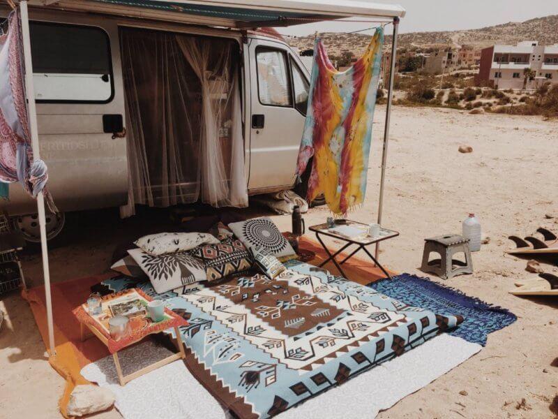 Morocco camping