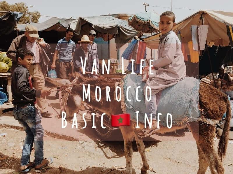 van life morocco info バンライフ モロッコ 情報